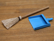 Sweeping Brush & Blue Dustpan