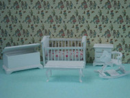 1/24th Scale Nursery Bedroom Set In White