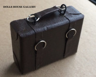 Medium Leather Suitcase in Brown