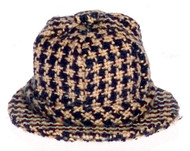 Navy Checked Hat