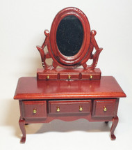 Mahogany Mirrored Dressing Table