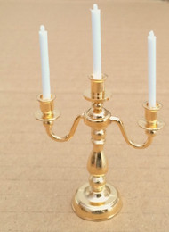 3 Arm Candelabra in a Quality Brass Finish