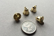 Four 8mm Gold Liberty Bells