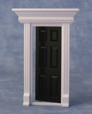 6 Panel Painted Black Front Door