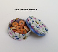 Donuts in a Floral Round Box