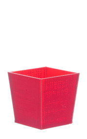 Square Office or Home Red Paper Waste Bin