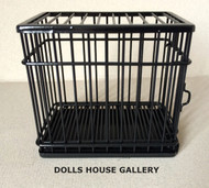 Black Metal Dog / Pet Cage With Opening Door