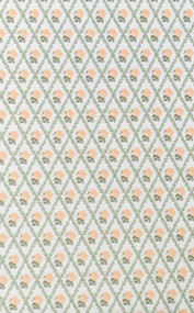 3 Sheets of Racheal Peach & White Wallpaper