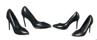 Ladies Black High Heel Shoes 2 Pairs