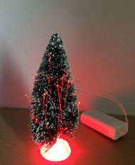 Fibre Optic Green Christmas Tree Approx. 15cm