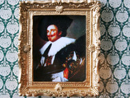 Laughing Cavalier Picture In Ornate Golden Frame