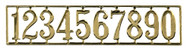 Golden House Numbers Set