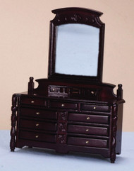 Mahogany Dressing Table with Drawers & Mirror,