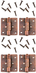 Bronze Butt Hinges & Nails 4 Pack