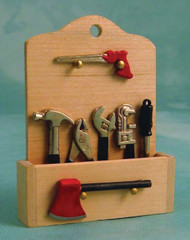 Tool Wall Shelf With Tools