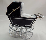 Heidi Ott Antique Pram in Black & Silver