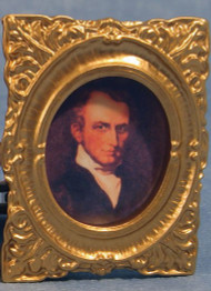 Very Ornate Framed Gentleman Portrait Picture