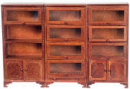 Three Bookcase Cabinet Units