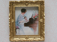 First Lesson Picture In Ornate Golden Frame