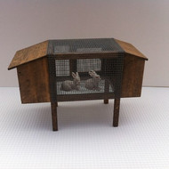 Quality Rabbit Hut / Hutch & Rabbits