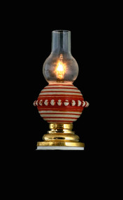 Pattern Table Lamp  with Glass Shade