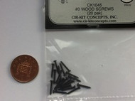 Wood Screws 20pk Black #1045
