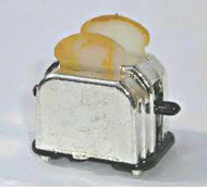 Silver Toaster with Toast