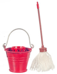 Floor Mop & Tin Bucket with Wringer