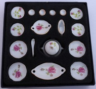 18 Piece Dinner Set, Pink Rose.