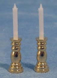 Pair of Gold Candlesticks