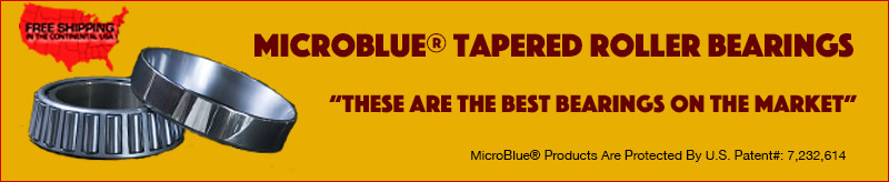 MicroBlue Low Friction Tapered Bearings
