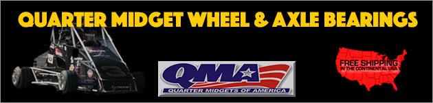 MicroBlue Quarter Midget Ceramic and Steel Wheel and Axle Bearings