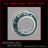 "UC 206-20 1 1/4"" Flat Top Steel Axle Bearing"