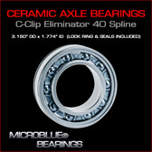 C-Clip Eliminator Ceramic Ball Bearing For 40 Spline Axles.