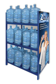 5 gallon water bottle storage shelving unit with 36 bottle capacity image 1 - 5 Gallon Water Bottles