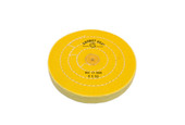 "Yellow Chemkote Buff, 6"" x 50 Ply, Shellac Center, Item No. 17.555"