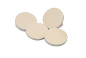 "Spanish Felt Wheel Buffs, 3"" x 1/2"", Medium, Item No. 17.452"