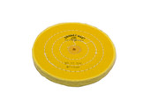 "Yellow Chemkote Buff, 6"" x 40 Ply, Shellac Center, Item No. 17.544"