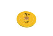 "Yellow Chemkote Buff, 5"" x 30 Ply, Leather Center, Item No. 17.55404"