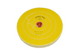 "Yellow Chemkote Buff, 7"" x 50 Ply, Leather Center, Item No. 17.559"