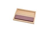 "Ruby Bench Stone, 4' x 1"" x 3/8"", Medium Grit, In Wooden Box, Item No. 10.423"