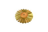 "Straight Brass Wire Brush, 2 Rows of Wire, 3"" Diameter , Item No. 16.426"