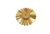 "Straight Brass Wire Brush, 2 Rows of Wire, 4"" Diameter , Item No. 16.427"