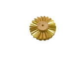 "Straight Brass Wire Brush, 3 Rows of Wire, 3"" Diameter , Item No. 16.429"