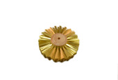 "Straight Brass Wire Brush, 4 Rows of Wire, 4"" Diameter , Item No. 16.432"