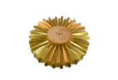 "Straight Brass Wire Brush, 4 Rows of Wire, 6"" Diameter , Item No. 16.433"