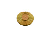 "Crimped Brass Wire Brush, 2 Rows of Wire, 4"" Diameter , Item No. 16.441"