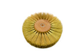 "Crimped Brass Wire Brush, 4 Rows of Wire, 6"" Diameter , Item No. 16.447"