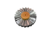 "Straight Steel Wire Brush, 3 Rows of Wire, 4"" Diameter , Item No. 16.460"