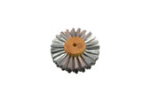 "Straight Steel Wire Brush, 4 Rows of Wire, 3"" Diameter , Item No. 16.461"